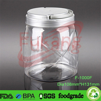 1000ml Food Grade Pet Plastic Jars With Cap,1 Liter Pet Plastic ...