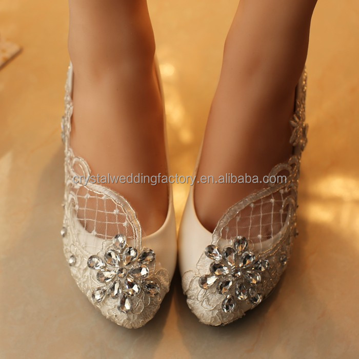 Women MS930 rhinestone Shoes Wedding Heels Lace office High Bridal Bridesmaid EXwzqzf
