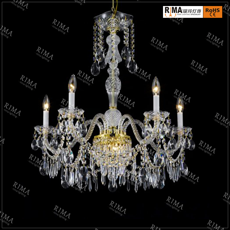 Large gold italian modern chandelier centerpieces lights big candle hotel crystal chandelier