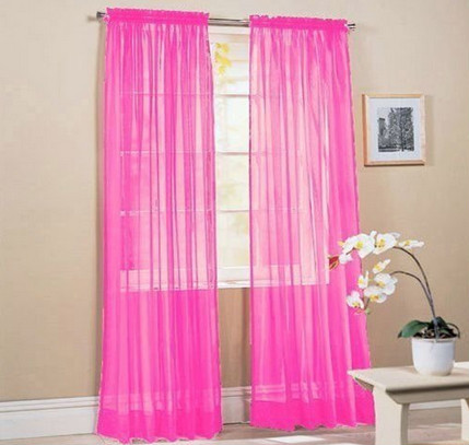 rainbow voile window curtain sheer curtain for living room hot sale in north america