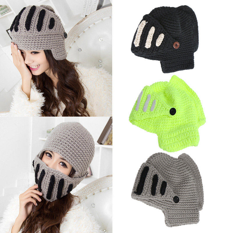 e72161c847d3b 2017 Novelty New Roman Knight Helmet Caps Cool Handmade Funny Ski Caps   Popular Funny Ski Mask-Buy Cheap Funny Ski Mask Lots From