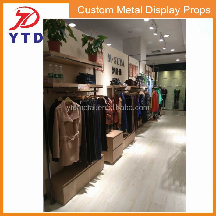 Luxry garment shop or stores metal display fitting furniture