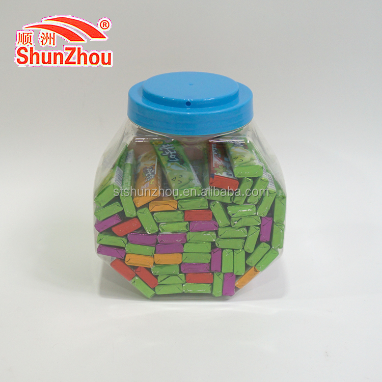 5pc per sachets strawberry, grape, orange and apple milk soft swiss candy with tattoo stick