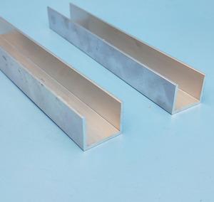 Anodized aluminum tubing /aluminum extrusion U shape rail/aluminum U  channel profile