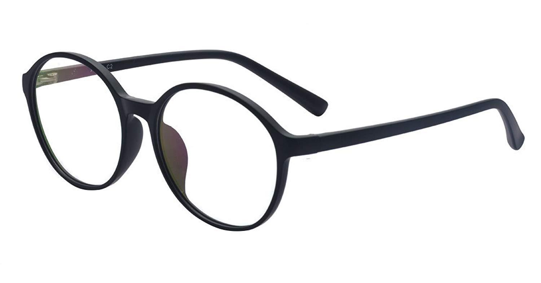 e88a8d49bc Get Quotations · ALWAYSUV Round TR90 Full Frame Clear Lens Glasses  Prescription Optical Glasses Frames