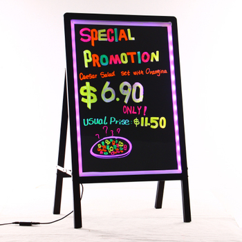 Promotion Zd Glass Message Board 90 Flashing Modes Neon Led Sidewalk Signs  Wooden-alike Frame Led Light Display - Buy Glass Message Board,Neon Led