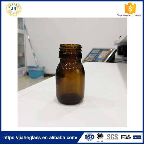 Pharmaceutical Industrial Use and Glass Material Amber Glass Bottle Vial 30ml for syrup/oral liquid