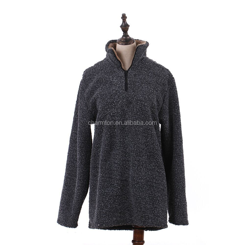 Wholesale Personalized Soft Women Zip Pullover