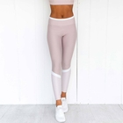 New Fashion Color Block Women Gym Leggings Running Fitness Tights