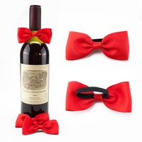 Hot Sell Hot Quality Beautiful Wine Bottle Bow Tie For Gift Packaging