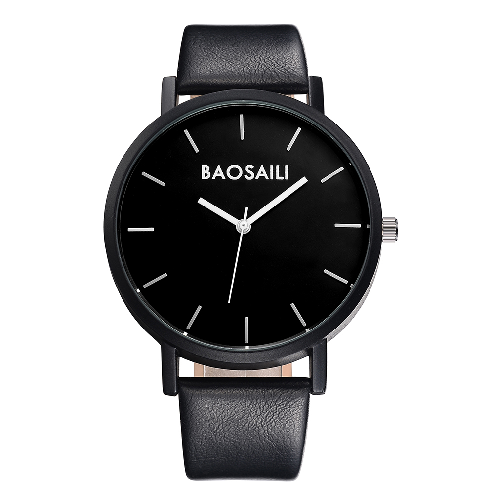 BAOSAILI Quality Leather Strap New Simple Fashion Watch For Man Alloy Water Resistant Watches