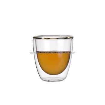 Charmant 80ml Insulated Clear Glass Espresso Cups