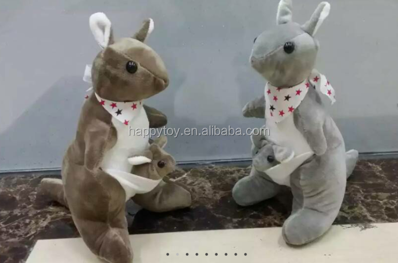 HI CE-EN71 Mother and baby kangaroo stuffed plush toy Plush stuffed Australia kangaroo soft toy