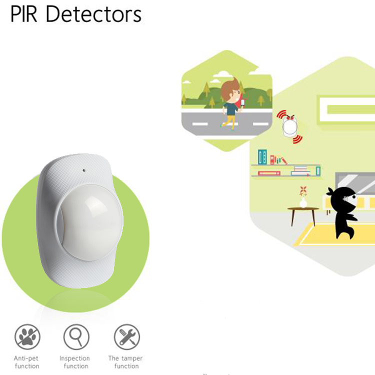 Infrared Motion Detector And PIR Motion Sensor for home security system