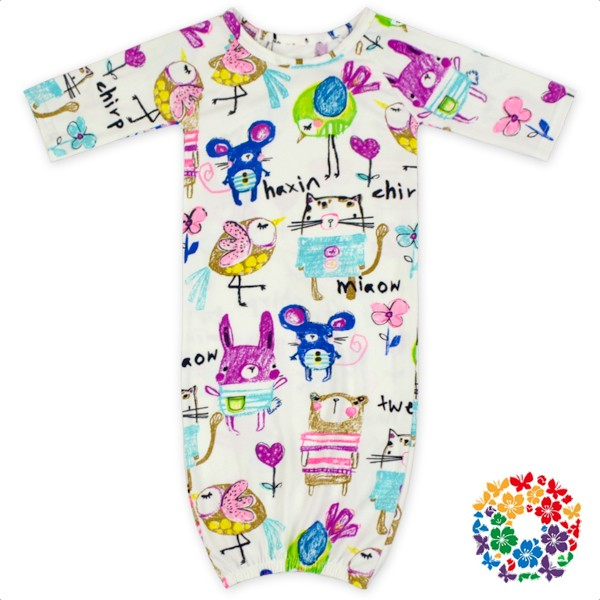 500c763ae0 New Cute FAUX SUEDE Material Newborn Sleep Pajamas Long Sleeve Baby Girls  Boys Gown With Bow