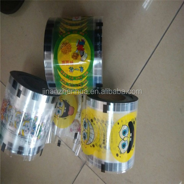 PP/PE/PET Bubble Tea Packing film Plastic Yogurt Cup Lid transparent sealing film