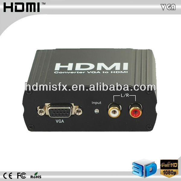 PC a TV mini VGA a HDMI convertidor de audio HDMI salida adaptar HDTV