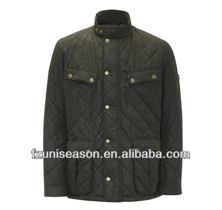 Winter men's diamond quilted riding jacket