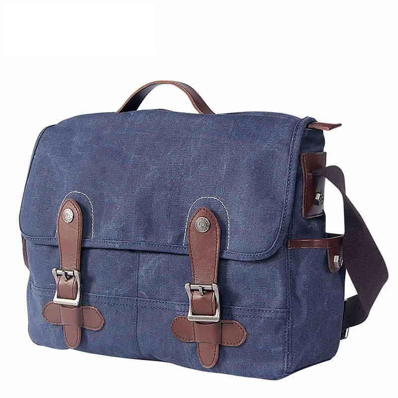 High Quality Mens Vintage Fashion Canvas Messenger Bag Long Strap ...