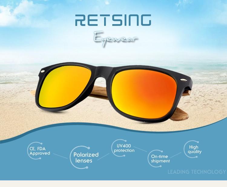 2017 Fda Wholesale Mirror Lens China Plastic Bamboo Sunglasses ...