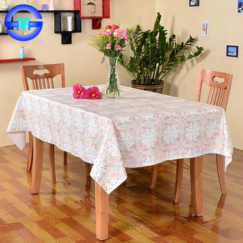 Pvc High Quality New Design 6 Biodegradable Plastic Red White Checkered Felt Backed Tablecloths
