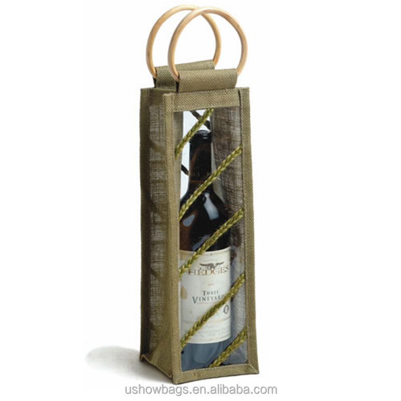 Handle Bag For Non Woven Cotton Drawstring Wine Bag Bag In
