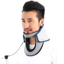 Top quality medical cervical collar, professional air inflatable neck traction support with pressure gage
