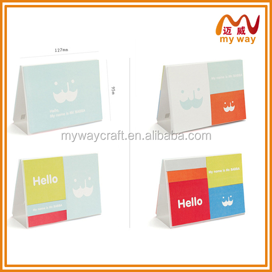 Stationery items calendar design sticky note for office supply made in china