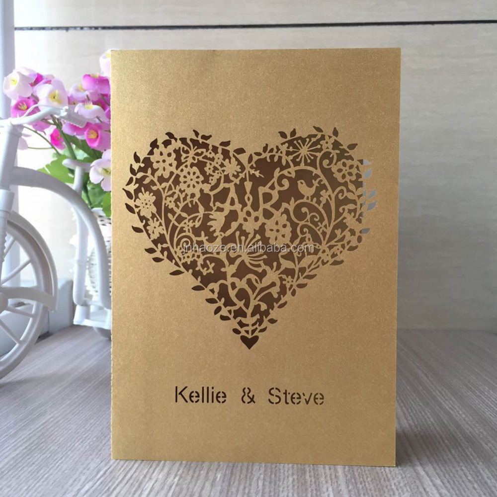 100pcs/lot Custom Names Event Party Supplies Love Heart Name Place Table Card Wedding Event Laser Cut Weddinng Invitation Card