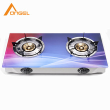 High Quality Restaurant Equipment free standing Blue Flame Double Burner Gas Stove Price