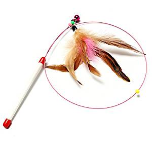Cat Pet Toy Single Rod One Feather Attachment by molona (Hot Items)