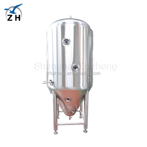 2018 hot stainless steel 25 gallon cooling jacket conical fermenter large beer fermentation tank