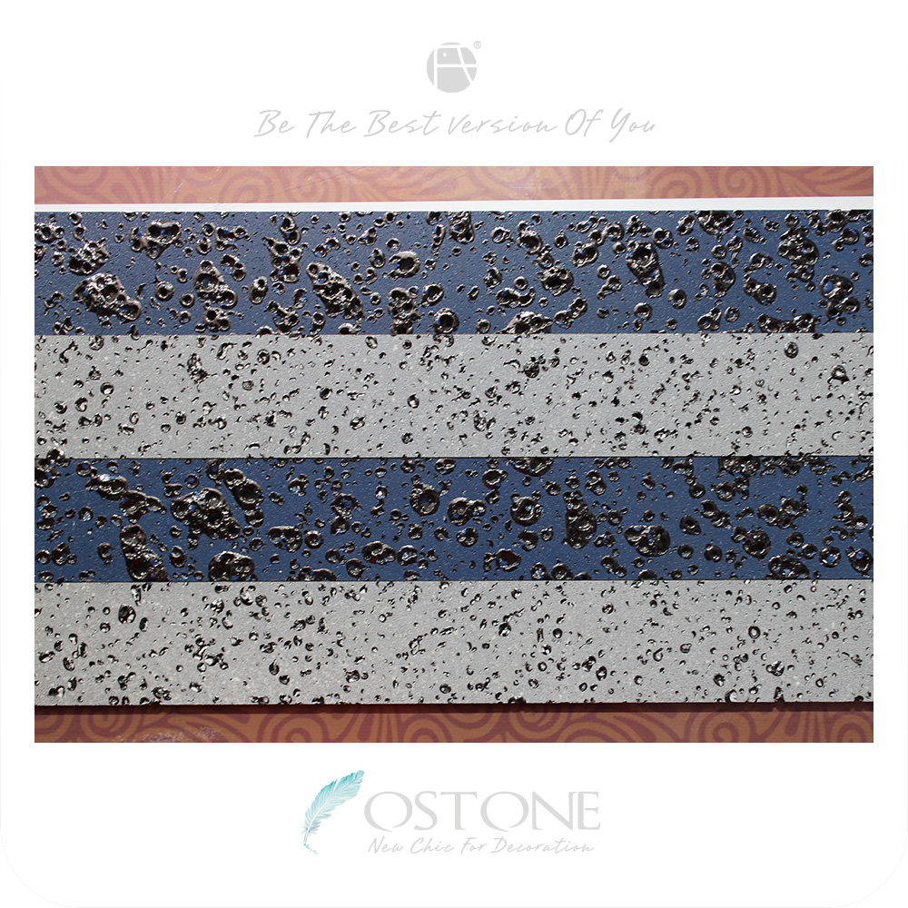 Best Quality Silver Blue Strips Lava Volcanic Rock Stone Tile For Sale