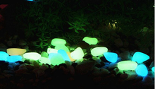 glow in the dark resin pebble stone material for home decoration