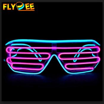 8 Modos LED Luz Glow Gafas Gafas de Sol Gafas Tonos para Club nocturno Fiesta ^