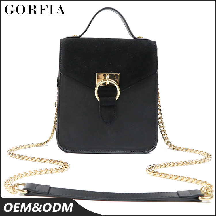 China suppliers high quality sweet girls shoulder bag messenger bags small leather handbag with lock