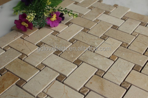 Non Slip Kitchen Floor Tile Stone Mosaic And Bathroom Self Adhesive