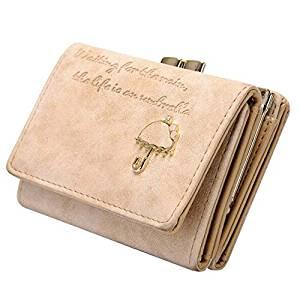 Short Clutch Wallet - TOOGOO(R)Women's Fashion Leather Wallet Button Clutch Purse Lady Short Handbag Beige