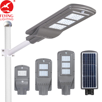 Flyinglighting free samples ip65 outdoor waterproof 20w 40w 60w integrated all in one solar street led light