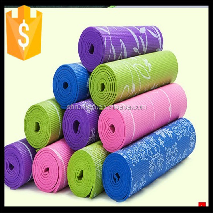 Direct factory best selling multi color printing pvc yoga mat
