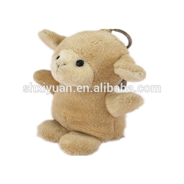 China toy factory wholesale plush sheep goat keychain for sale