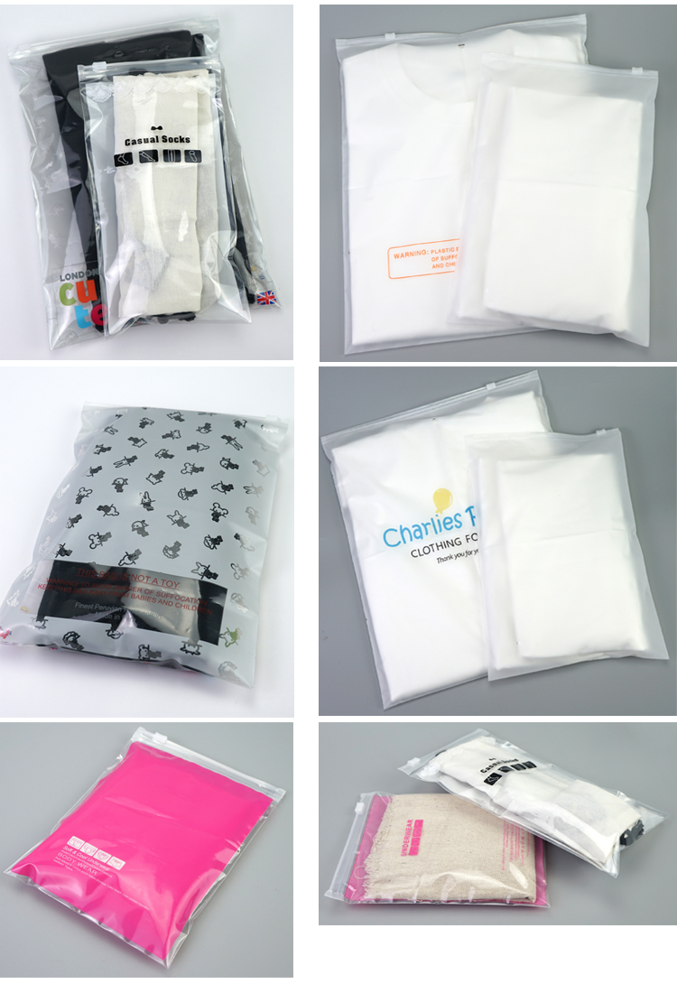 customized design PE Plastic resealable zipper poly bags with printing your logo