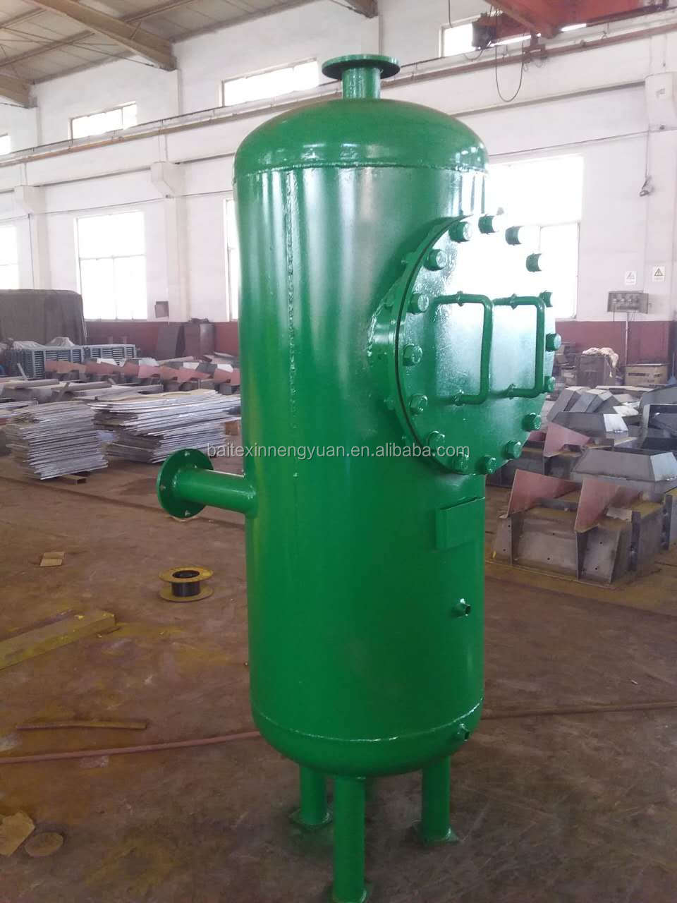 Biogas dehydration filter removing water vapour