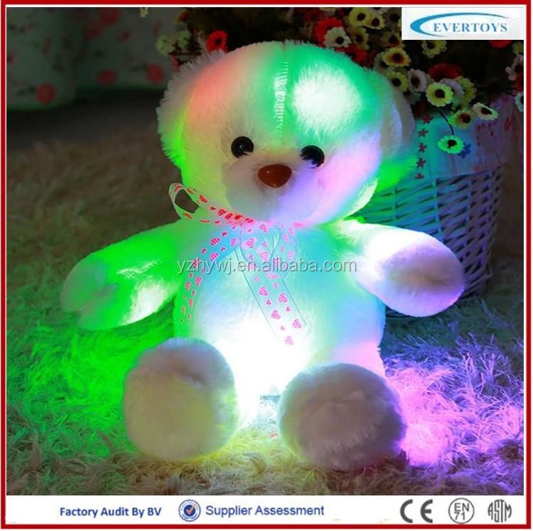 Light Up Teddy Bear Led Teddy Bear Glow In The Dark Plush Toy ...