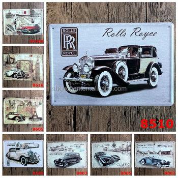 Vintage Cars Metal Signs Tin Sign Garage Decorative Metal Plate Wall Plaque Buy Tin Sign Vintage Tin Sign Car Tin Sign Product On Alibaba Com
