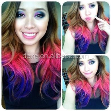 5 secondes coloration 12 couleurs disponibles cheveux clip craie - Craie Coloration Cheveux