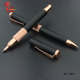 Perfect gifts good quality metal ballpoint pen Luxury black rose gold pen