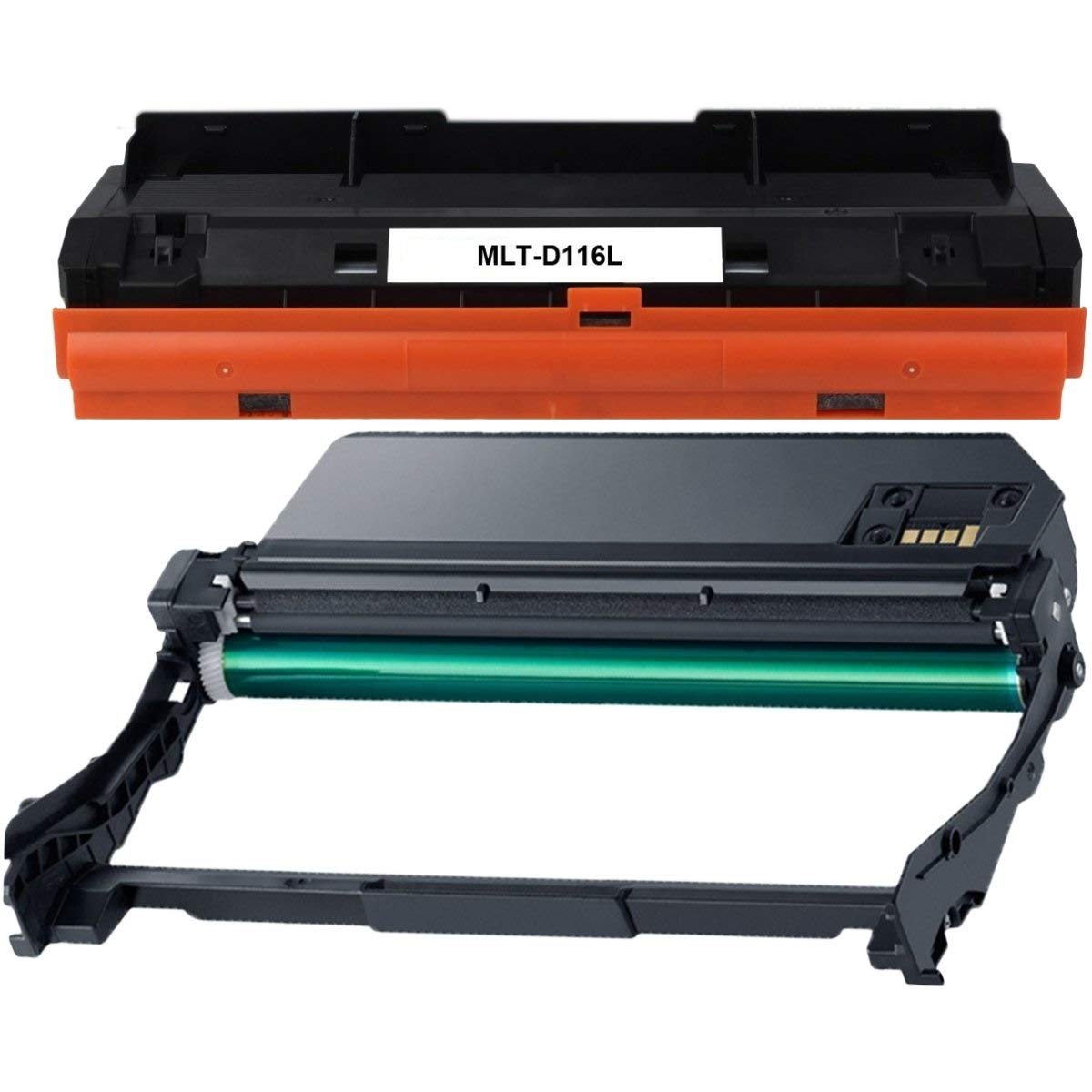 Abacus24-7 Compatible Replacement Set for Samsung MLT-D116L Toner/MLT-R116 Imaging Drum Unit for Samsung Xpress SL-M2625D SL-M2675F SL-M2825DW SL-M2835DW SL-M2875FD SL-M2875FW Laser Printers
