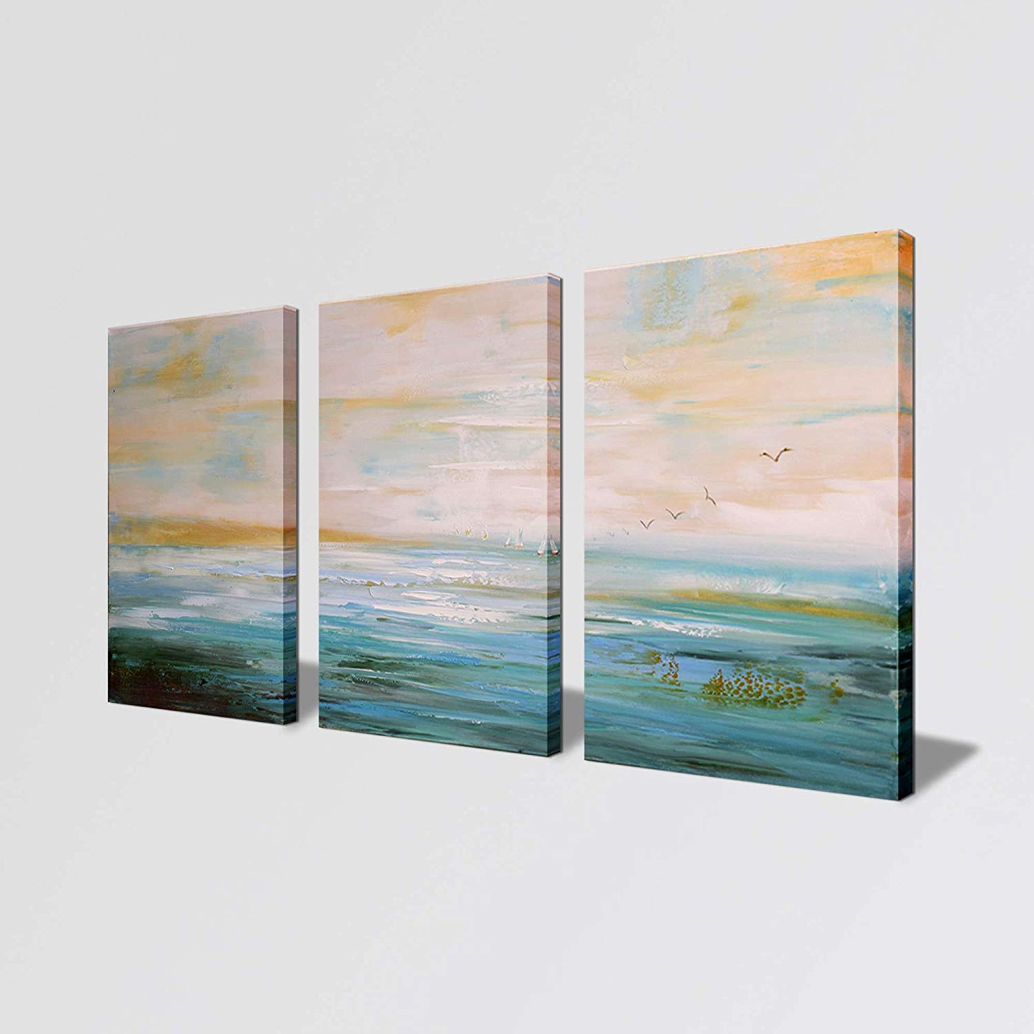 Get Quotations Abstract Art Painting For Wall Canvas Decor Living Room 3 Piece Pictures Ready To