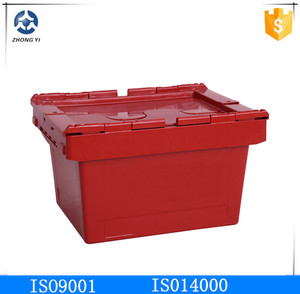 solid nestable plastic container for storage